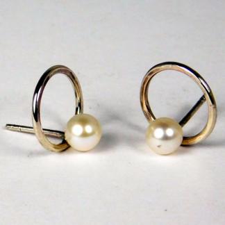 Ohrringe Perlenring Silber 1 324x324 - Ohrringe Perlenring Silber