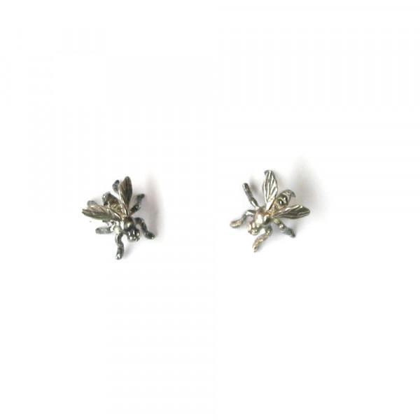 Ohrstecker Fliegen aus Silber vom Goldschmied kaufen 600x600 - Ohrstecker Fliegen aus Silber