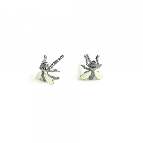 Ohrstecker Fliegen aus Silber vom Schmuckdesigner kaufen 600x600 - Ohrstecker Fliegen aus Silber