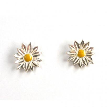 Ohrstecker Margeriten aus Silber mit Emaille kaufen vom Goldschmied 416x416 - Ohrstecker Margeriten aus Silber mit Emaille