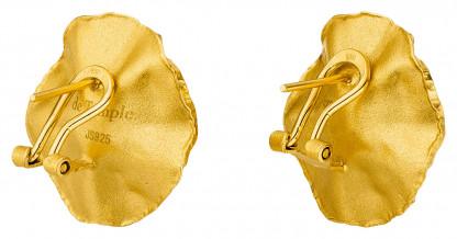 """Ohrstecker Silber vergoldet mit großer Perle Sakura 416x218 - Ohrclips """"Sakura"""" aus vergoldetem Silber mit großer Zuchtperle"""