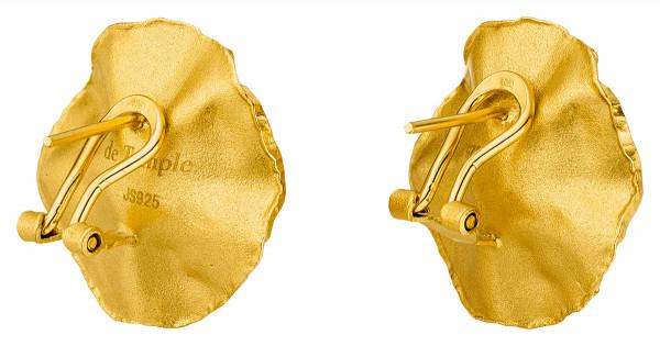 """Ohrstecker Silber vergoldet mit großer Perle Sakura 600x315 - Ohrclips """"Sakura"""" aus vergoldetem Silber mit großer Zuchtperle"""