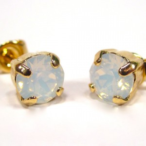 Ohrstecker gold white opal