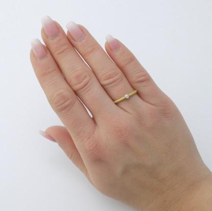 Pünktchenring aus Gold mit Brillant 416x415 - Pünktchenring Gold mit Brillant