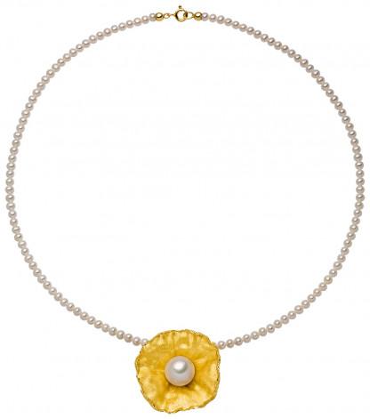 """Perlenkette mit Anhänger Sakura 416x471 - Perlenkette mit Anhänger """"Sakura"""""""