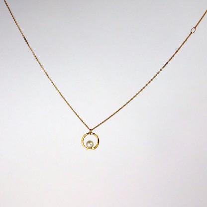 Perlenring Anhänger an Kette Gold 2 416x416 - Perlenring Anhänger an Kette Gold