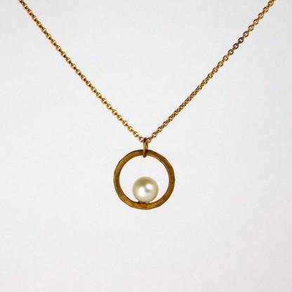 Perlenring Anhänger an Kette Silber 2 416x416 - Perlenring Anhänger an Kette Silber