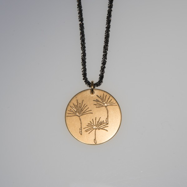 Pusteblume 3er vergoldet Silberkette 600x600 - Halskette 3 Pusteblumen Gelbgold vergoldet