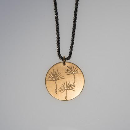 Pusteblume 3er vergoldet Silberkette scaled 416x416 - Halskette 3 Pusteblumen Gelbgold vergoldet