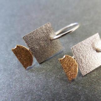 """Quadratischer Design Orhänger aus Silber Goldschmiedin Andrea Bejöhr 324x324 - Silber-Ohrhänger """"Quadrat"""""""