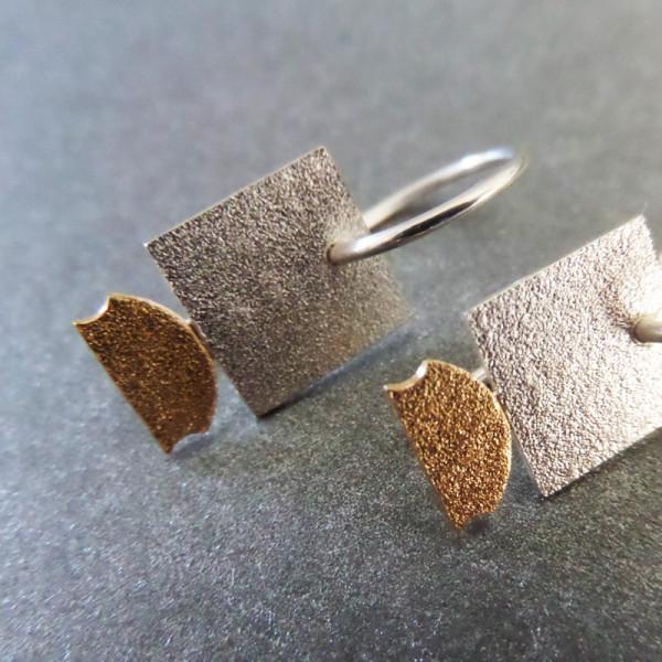 """Quadratischer Design Orhänger aus Silber Goldschmiedin Andrea Bejöhr 600x600 - Silber-Ohrhänger """"Quadrat"""""""