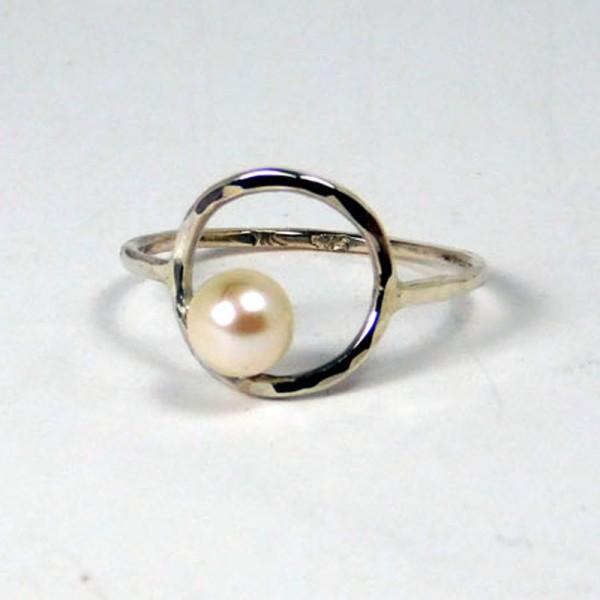 Ring Perlenring Silber 3 600x600 - Ring Perlenring Silber