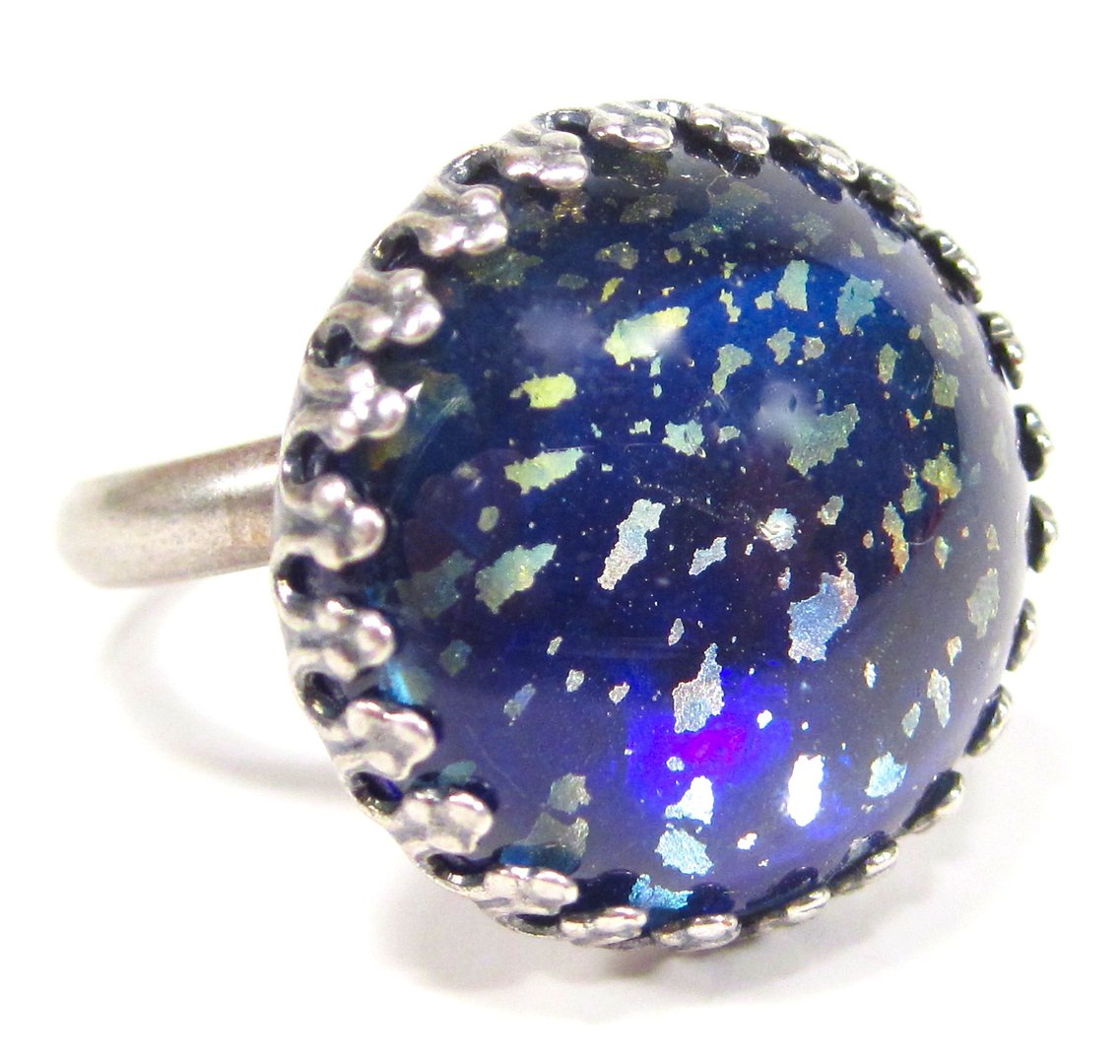 Ring cabochon universe