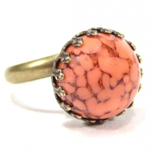 Ring vintage coral matrix