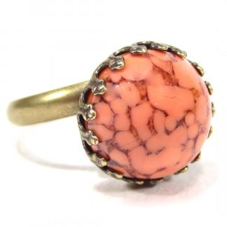 Ring vintage coral matrix Ringe 324x324 - Ring sabrina gelb rose