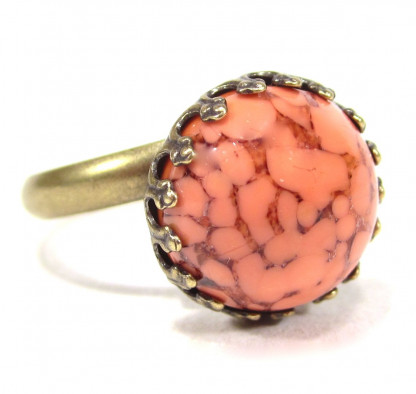 Ring vintage coral matrix Ringe 416x394 - Ring vintage coral matrix