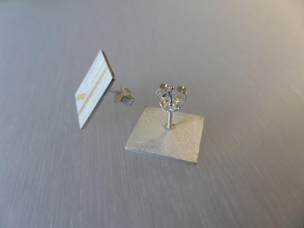"""SAM 1711 600x450 - Silberohrstecker """"Goldstreifen"""""""