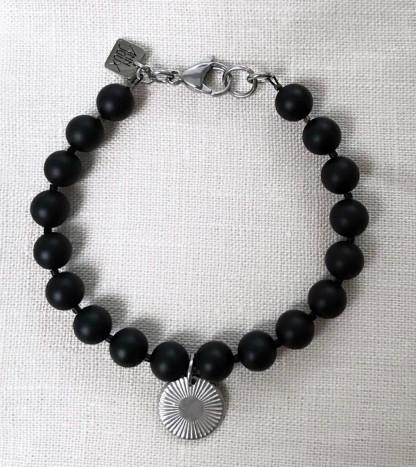Schmuck kaufen Armband Simon Onyx Silber von Annjoux Galerienbild 1