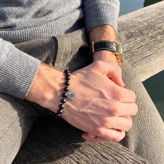 Schmuck kaufen Armband Simon Onyx Silber von Annjoux