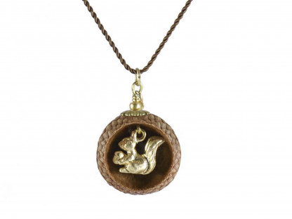 Schmuck kaufen Ebene Eichelhut Halskette Eichhörnchen Goldschatz Z180 2 von 2 416x312 - Eichelhut-Halskette Eichhörnchen mit Goldschatz