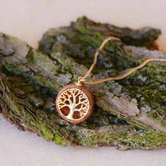 Schmuck kaufen Ebene Eichelhut Halskette Lebensbaum 925er Sterling Silber vergoldet Z215 1 von 5 324x324 - Eichelhut-Halskette Lebensbaum