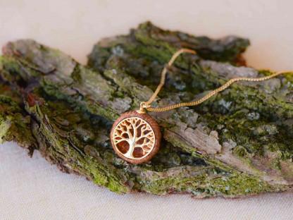 Schmuck kaufen Ebene Eichelhut Halskette Lebensbaum 925er Sterling Silber vergoldet Z215 1 von 5 416x312 - Eichelhut-Halskette Lebensbaum