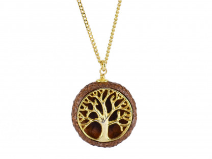 Schmuck kaufen Ebene Eichelhut Halskette Lebensbaum 925er Sterling Silber vergoldet Z215 3 von 5 416x312 - Eichelhut-Halskette Lebensbaum