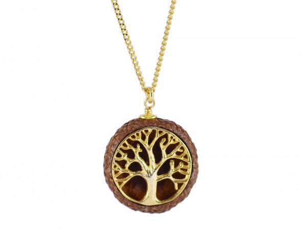 Schmuck kaufen Ebene Eichelhut Halskette Lebensbaum 925er Sterling Silber vergoldet Z215 3 von 5 600x450 - Eichelhut-Halskette Lebensbaum