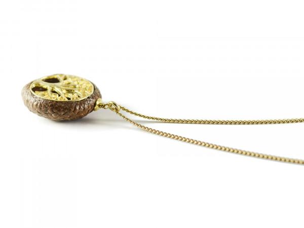 Schmuck kaufen Ebene Eichelhut Halskette Lebensbaum 925er Sterling Silber vergoldet Z215 4 von 5 600x450 - Eichelhut-Halskette Lebensbaum