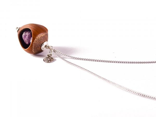 Schmuck kaufen Haselnuss Halskette Rubin 925er Sterling Silber Z208 1 von 3 600x450 - Haselnuss Halskette mit Roh-Rubin