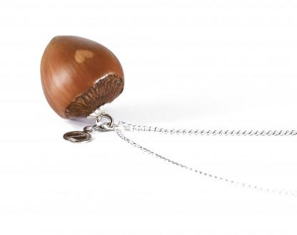 Schmuck kaufen Haselnuss Herz Halskette mit kleiner Herzgravur Silber Z187 2 416x330 - Haselnuss-Halskette mit Herzgravur
