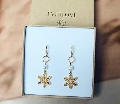 Schmuck kaufen Ohrringe Indira Blumen Schleer Everlove