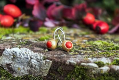 Schmuck kaufen Ohrringe Mox Koralle Design