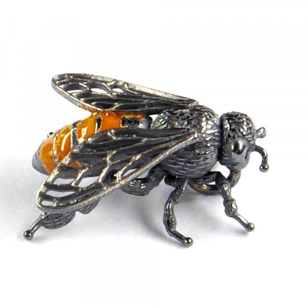 Schmuck vom Goldschmied kaufen Anhänger Biene 600x600 - Anhänger Biene aus Silber mit Emaille