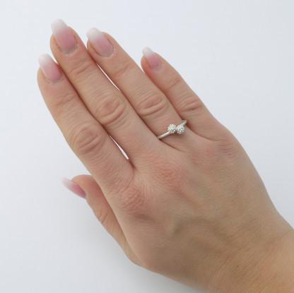 Silberner Mimosenring doppelt aus 925er Silber 416x415 - Mimosenring doppelt aus 925er Silber