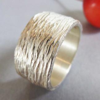 """Silberring Motiv Baumrinde 324x324 - Silberring """"Baumrinde"""""""