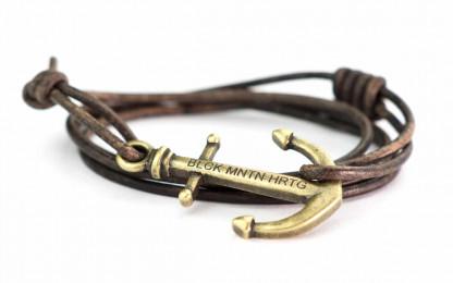 armband magellan antikgold 416x260 - Anker Armband MAGELLAN Leder dunkelbraun