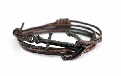armband magellan schwarz 416x260 - Anker Armband MAGELLAN Leder dunkelbraun