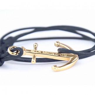 armband mit anker DARK OCEAN Leder vintage blau gold 324x324 - Axt Armband BRAGI Leder vintage grau