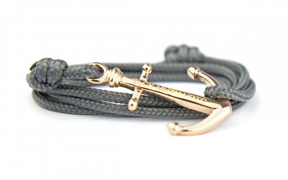 armband mit anker Shiny Perch gold 416x260 - Anker Armband SHINY PERCH grau Edelstahl gold
