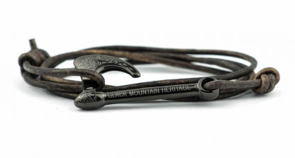 armband mit wickelarmband mit axt blk braun 416x223 - Axt Armband HALFDAN Leder vintage braun
