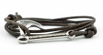 armband mit wickelarmband mit axt silber braun 416x223 - Axt Armband BRAGI Leder vintage grau