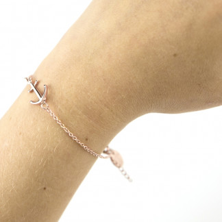 armband rose arm front 324x324 - Anker Armband SHINY PERCH grau Edelstahl gold