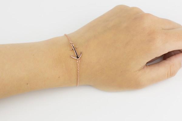 armband rose arm top 600x400 - Anker Armkette VALENA rosegold
