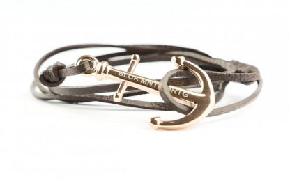 armband rose braun 416x260 - Anker Armband MAGELLAN Leder dunkelbraun