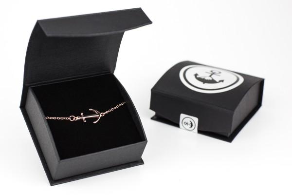 armband rose schachtel offen geschlossen 600x400 - Anker Armkette VALENA rosegold