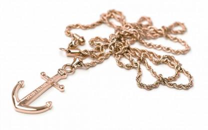 armkette mit anker MIRA rosegold 1 416x260 - Anker Kette MIRA Edelstahl rosegold