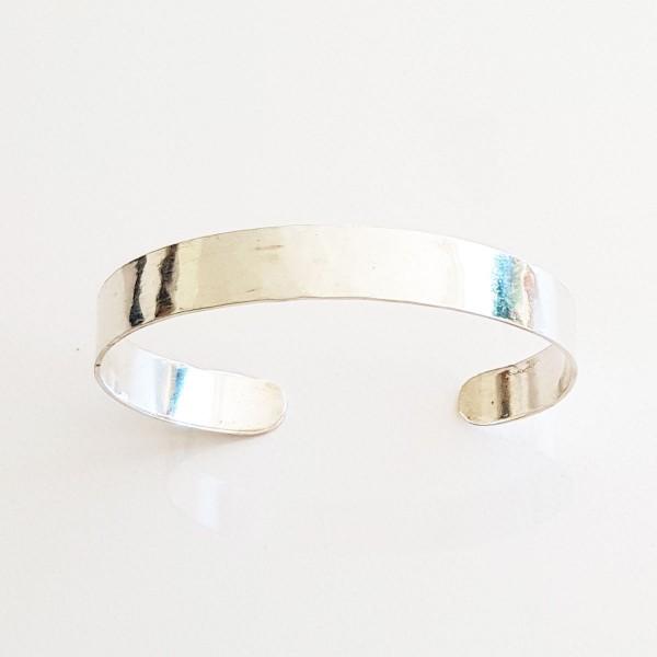 armreif silber glatt 600x600 - Puristischer Silber-Armreif