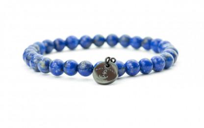blau schwarz 416x260 - Steinperlen Armband LAZU blau