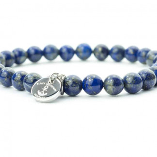 blau silber 324x324 - Steinperlen Armband LAZU blau